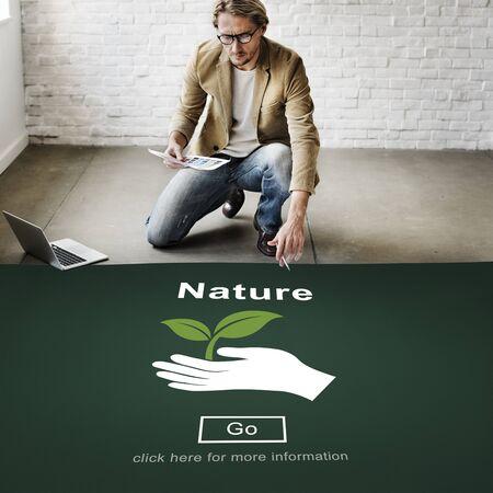 naturally: Nature Ecology Environmental Conservation Natural Life Concept