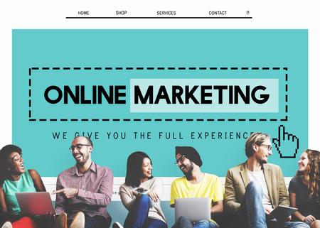 オンライン マーケティングのホームページ ウェブサイト デジタル コンセプト