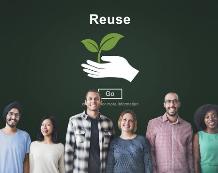 ecosystem: La reutilización recicla reduce concepto del ambiente del Ecosistema