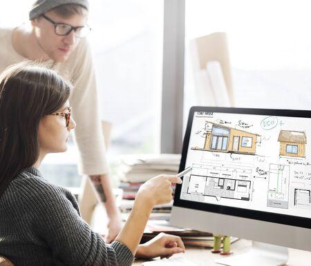floorplan: House Layout Floorplan Blueprint Sketch Concept