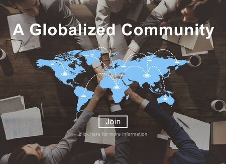 globalized: A Globalized Community Worldwide Connection Network Concept Stock Photo