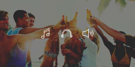playlist: Music Sound Note Louder Audio Playlist Concept