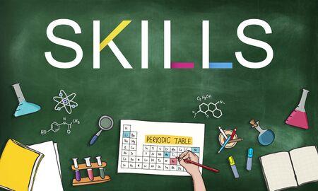 Compétences Travail Profession Expertise Aptitde Concept