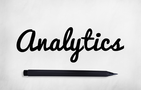 Analytics written on a paper concept