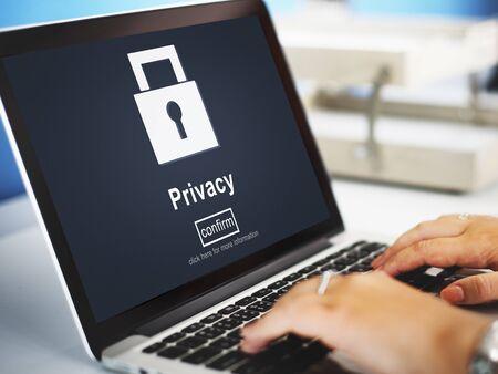Privacidad Concepto Protección Seguridad Privada Secreto