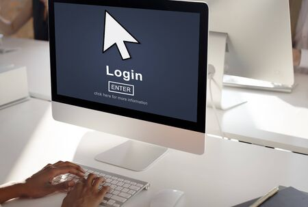 log: Log In Profile Enter Arrow Icon Concept Stock Photo