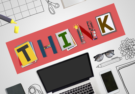 think up: Think Thinking Ideas Skill Start up Concept