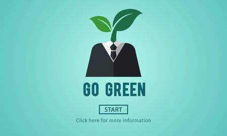 carbon footprint: Go Green Eco Ecology Environment Natural Earth Concept
