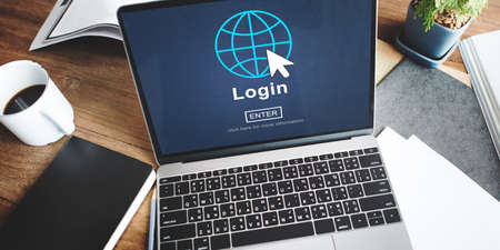 log on: Log In Profile Enter Global Icon Concept