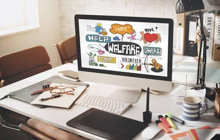 welfare: Welfare Help Giving Hands Aid Concept Stock Photo