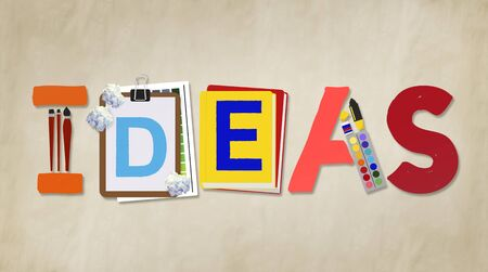 proposition: Ideas Creative Art Design Word Concept