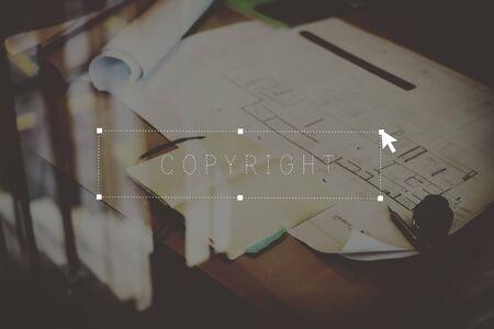 trademark: Copy Right Branding Trademark Product Design Concept