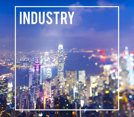 Industry Economic Cityscape Metropolitan Production Cocnept