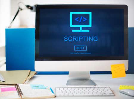 scripting: Scripting HTML Coding Development Internet Concept
