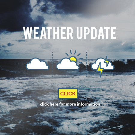 forecaster: Weather Update Information Prediction Climate Daily Concept Stock Photo