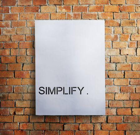 clarify: Simplify Simpleness Clarify Easiness Minimal Concept