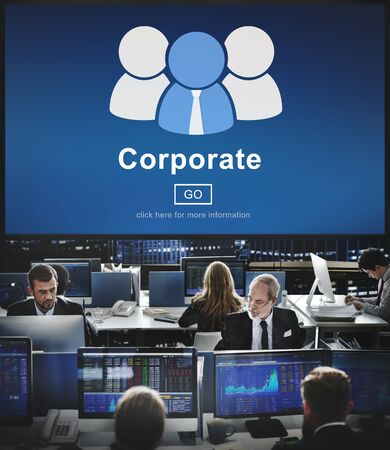 hectic: Corporate Business Company Network Organization Concept