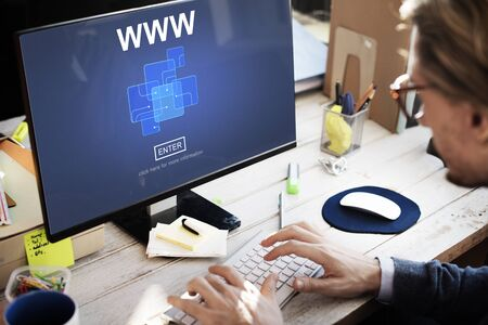 business security: WWW Website Online Internet Web Page Concept Stock Photo
