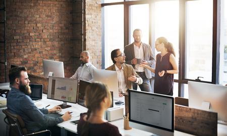 Команда Бизнес Обсуждение собрание акционеров Концепция