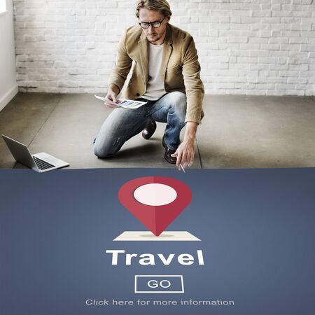 casual people: Travel Journey Destination Trip Vacation Concept