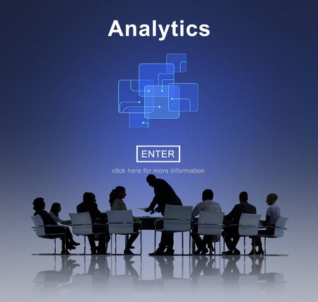 Informations Analytics Data Analysis Concept Research Banque d'images
