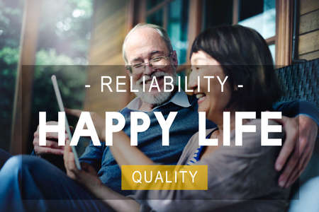 quality of life: Happy Life Reliability Quality Peace Living Concept