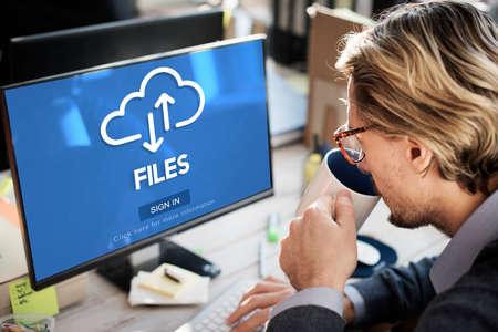 Files Documents Digital Assets Online Website Concept Stock Photo