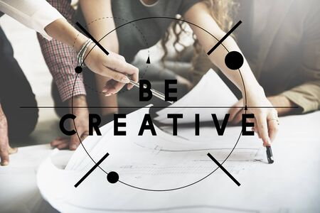 be: Be Creative Design Innovation Inspiration Concept Stock Photo