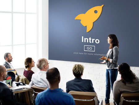 place to learn: Intro Launch Start Create Innovation Web Online Concept