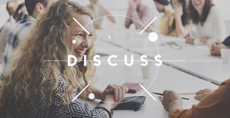 deliberation: Discussion Conversation Talk Chat Concept