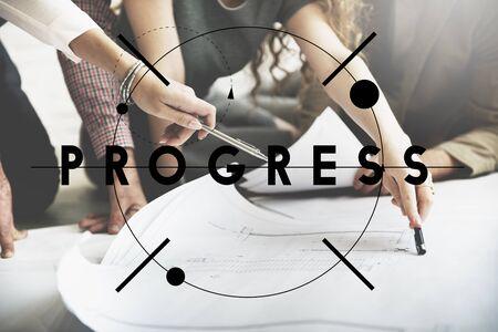 to move forward: Progress Improvement Development Move Forward Concept Stock Photo