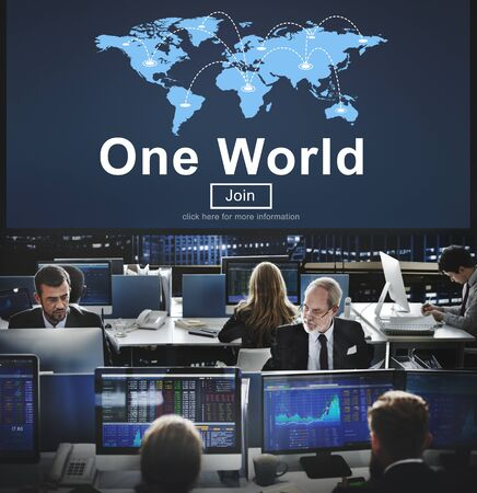 hectic life: One World Society Globalization Earth Concept Stock Photo