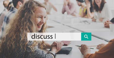 net meeting: Discussion Conversation Talk Chat Concept