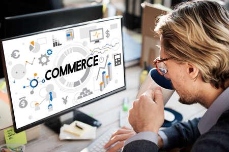 consumerism: Commerce Exchange Selling Shopping Consumerism Concept