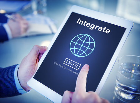 consolidate: Integrate Combine Merge Online Web Concept