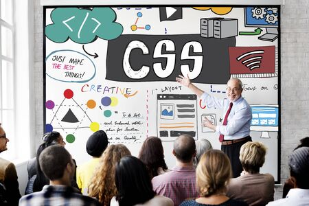 css: CSS Cascading Style Sheets Programming Networking Technology Concept