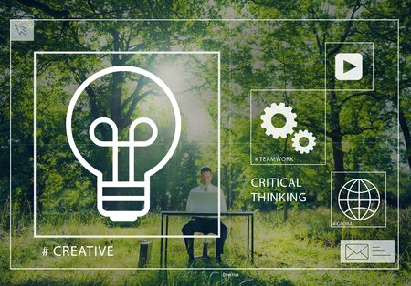 critical thinking: Ideas Creative Creativity Critical Thinking Inovation Concept
