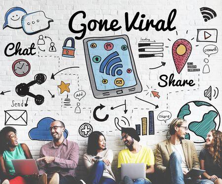 Gone Viral Cyber MultiMedia Internet Technology Concept Stock Photo