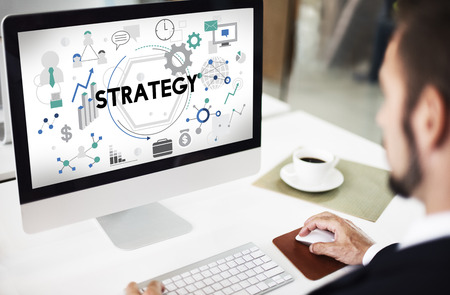 Strategie Tactiek Vision Solution Proces Concept Stockfoto