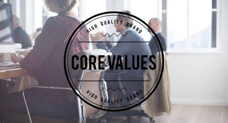 morals: Core Values Principles Morals Concept