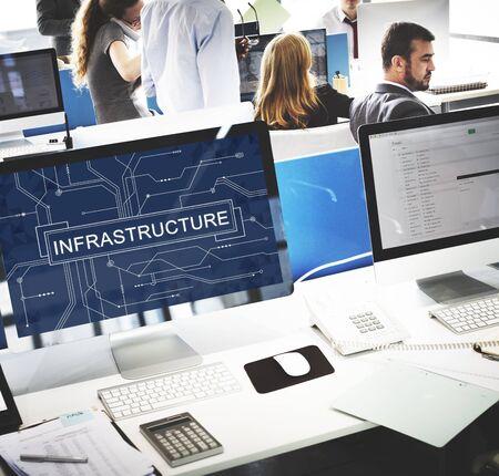 infraestructura: Infraestructura de concepto de tecnología Placa de circuito Marco de la Información