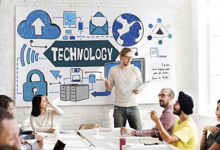 advanced computing: Technology Innovation Digital Evolution Concept
