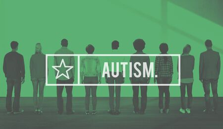 autistic: Autism Autistic Mental Health Disorder Psychiatry Concept Stock Photo