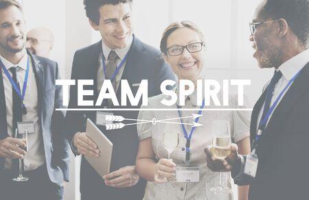 Team Spirit Spirit Power Fort Ensemble Concept Banque d'images