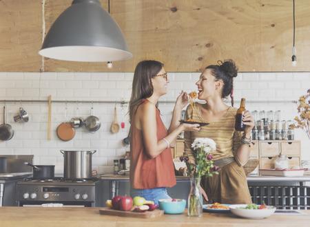 Vrienden Chef Koken Concept