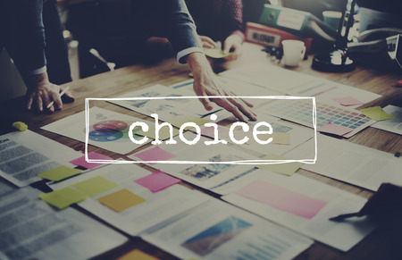Choice in decision making concept