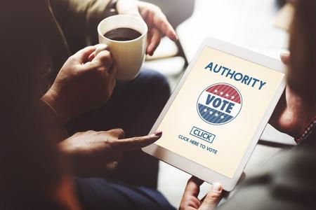 balloting: Authority Leader Ruler Politics Concept