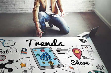 Trends Trend Trending Trendy Fashion Style Design Concept Stock Photo
