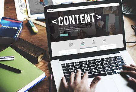 コンテンツ データ ブログ メディア出版物の概念