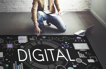 Digital Technology Innovation avancée Electronics Concept